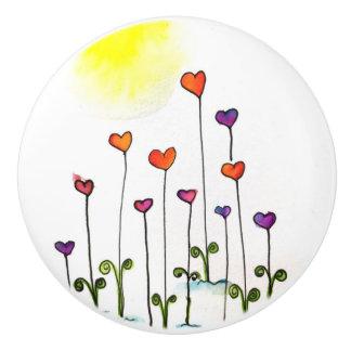 Growing Love Ceramic Knob
