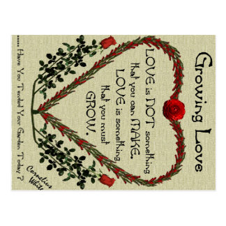 Growing Love Postcard