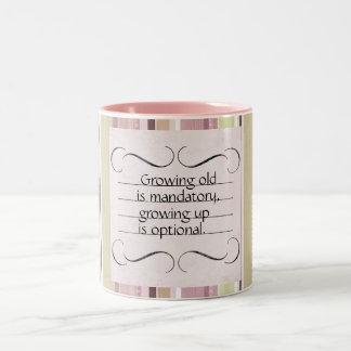 Growing Old-Growing Up Birthday Mug