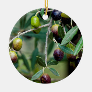 Growing Olives Ceramic Ornament