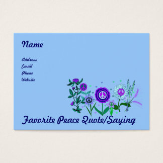 Growing Peace Business Card