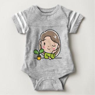 Growing Plants Baby Bodysuit