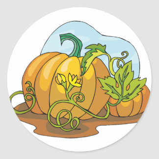 Growing Pumpkins Stickers