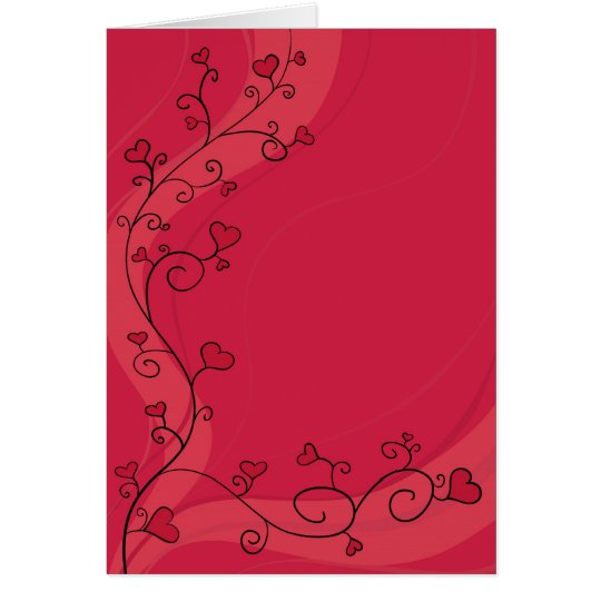 Growing red hearts card