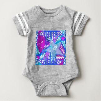 Growing Stars Pattern Baby Bodysuit