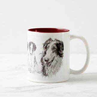 Growing Up Borzoi Two-Tone Coffee Mug