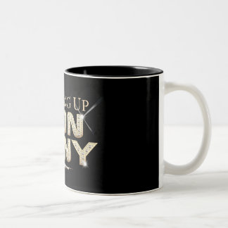 'Growing Up Don Tony' Mug! Two-Tone Coffee Mug
