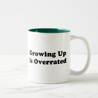 Growing Up Is Overrated Two-Tone Coffee Mug