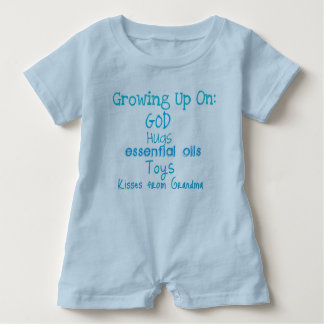 Growing Up On Toddler Romper Blue