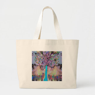 growing wild large tote bag