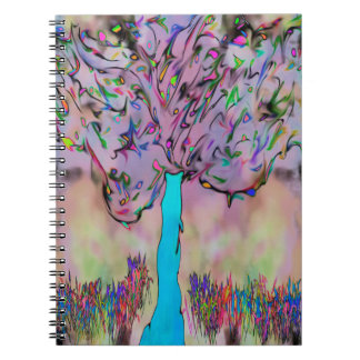 growing wild spiral notebook