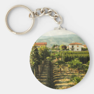 Growing Wine in Tuscany Photo Print Keychain