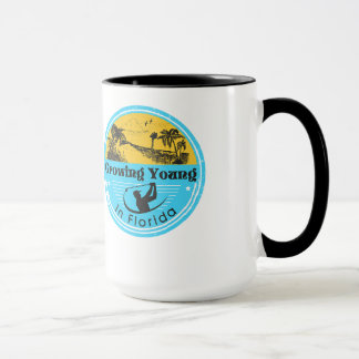 """Growing Young in Florida"" mug"