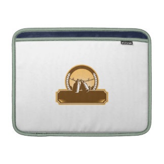 Growler Clothesline Picket Fence Circle Woodcut Sleeves For MacBook Air