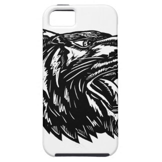Growling Tiger Woodcut Black and White iPhone 5 Cover
