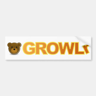 GROWLr Bumper Sticker