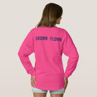 Grown and Flown Horizontal Logo Jersey Back