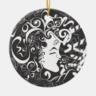 Growth and Harmony Round Ceramic Ornament