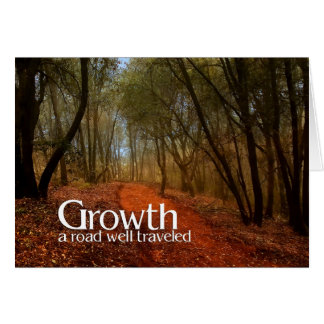 Growth | Business Greeting | Custom Path Greeting Card