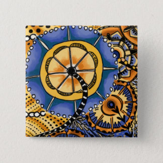 Growth in 3 Directions 1 2 Inch Square Button