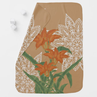 GROWTH - Orange Lily Baby Blanket