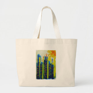 growth patterns large tote bag