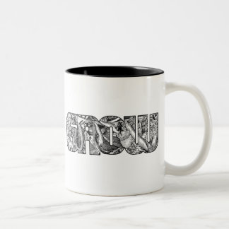 Growvisuals - grow bird letter mug