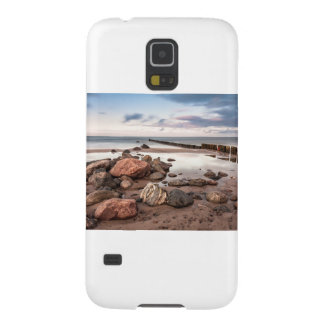 Groyne and stones on the Baltic Sea coast Galaxy S5 Covers