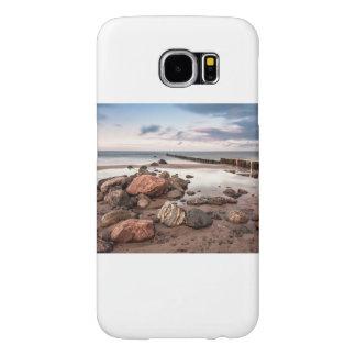 Groyne and stones on the Baltic Sea coast Samsung Galaxy S6 Cases