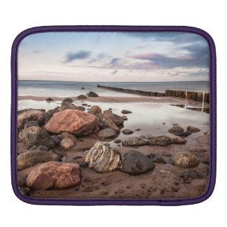 Groyne and stones on the Baltic Sea coast Sleeve For iPads