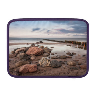 Groyne and stones on the Baltic Sea coast Sleeves For MacBook Air