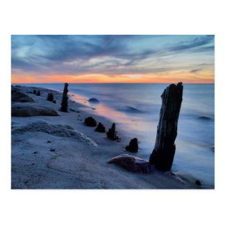 Groyne on the Baltic Sea coast Postcard