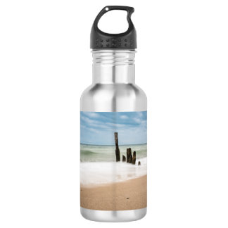 Groynes on shore of the Baltic Sea 532 Ml Water Bottle