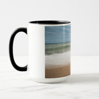 Groynes on shore of the Baltic Sea Mug