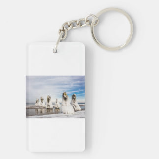 Groynes on the Baltic Sea coast Double-Sided Rectangular Acrylic Keychain