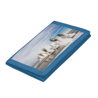 Groynes on the Baltic Sea coast Tri-fold Wallets