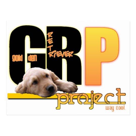 GRP - GOLDEN RETRIEVER PROJECT - WAY COOL! POSTCARD