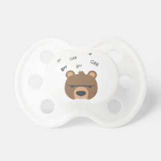 Grr Bear Cute Emoji Pacifier