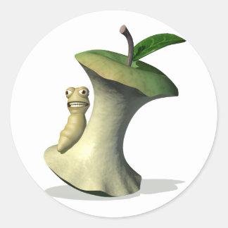 Grub Apple Core Stickers