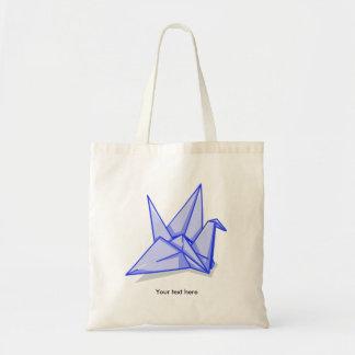 Grue de papier bleu sac en toile budget