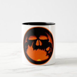 Gruesome Halloween Pumpkin Skulls Silhouette Mug