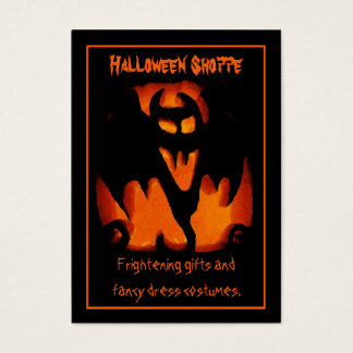 Gruesome Vampire Bat Silhouette Halloween Store Business Card