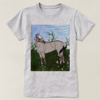 Grulla Horse in Pasture T-Shirt