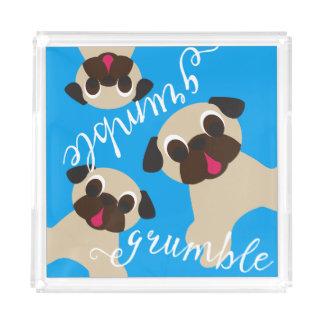 Grumble Grumble Fawn Pugs Acrylic Tray