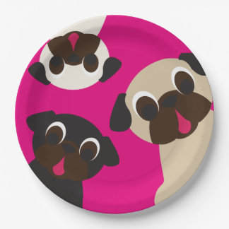 Grumble, Grumble Pug Paper Plate