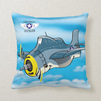 Grumman Avenger Throw Pillow