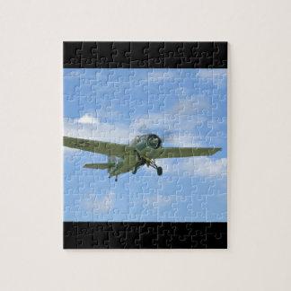 Grumman F4F Wildcat In Air,Below_WWII Planes Puzzle