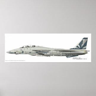 "Grumman F-14 A, VF-111 ""Sundowners"" detailed Print"