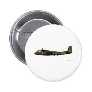 Grumman OV-1 Mohawk 2 Inch Round Button