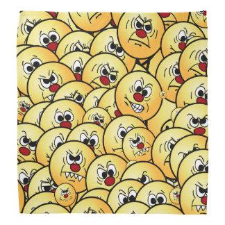 Grumpeys Angry Smiley Faces Set Bandana